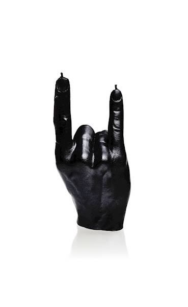 Świeca Candle Hand RCK Black Metallic