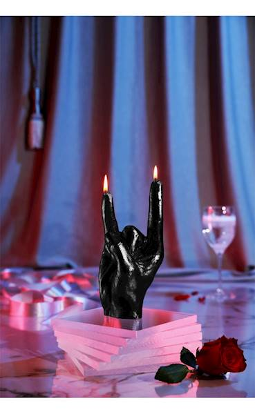 Świeca Candle Hand RCK Black Metallic