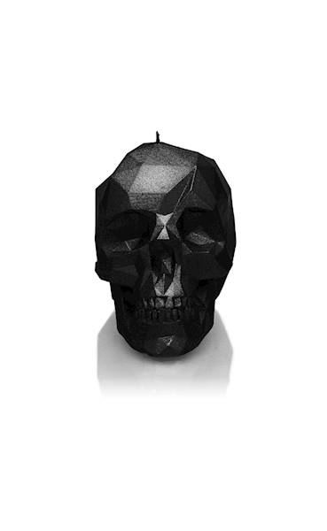 Świeca Candle Skull Black Metallic