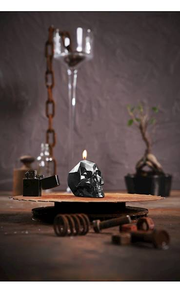 Świeca Candle Skull Small Steel