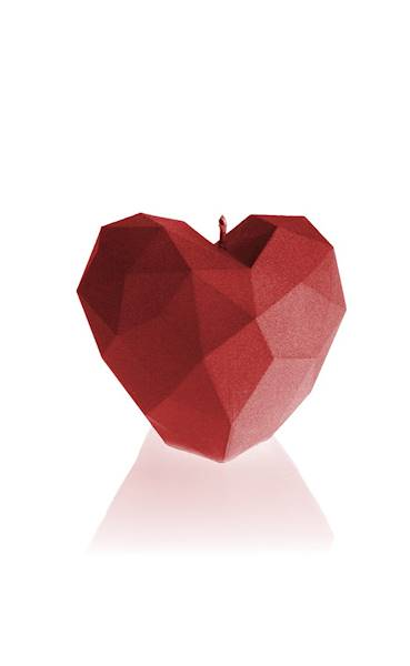 Świeca Candle Heart Low Poly Red