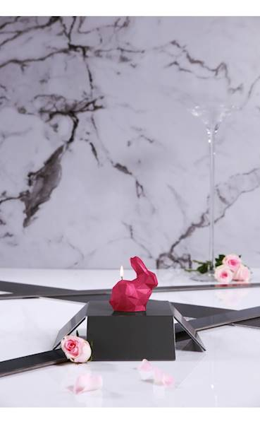 Świeca Candle Rabbit Small Dark Pink