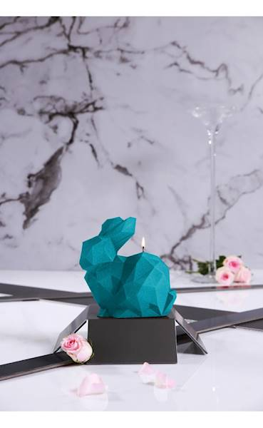 Świeca Candle Rabbit Big Marine Blue