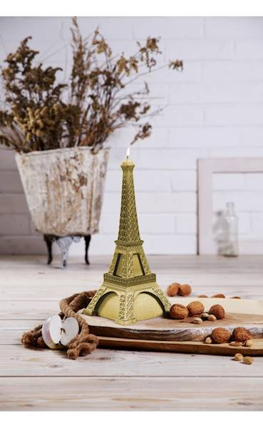 Świeca Candle Eiffel Tower Classic Gold