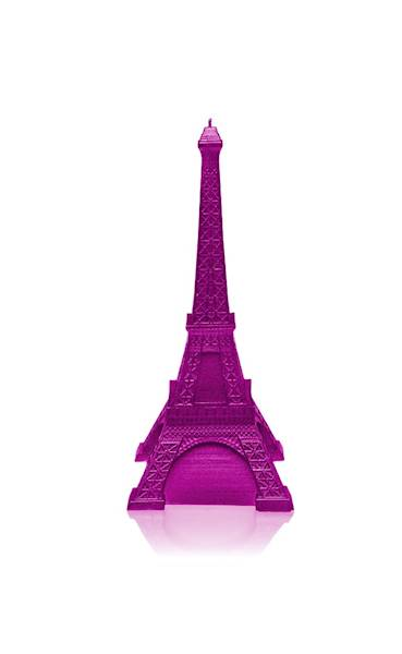 Świeca Candle Eiffel Tower Pink Metallic