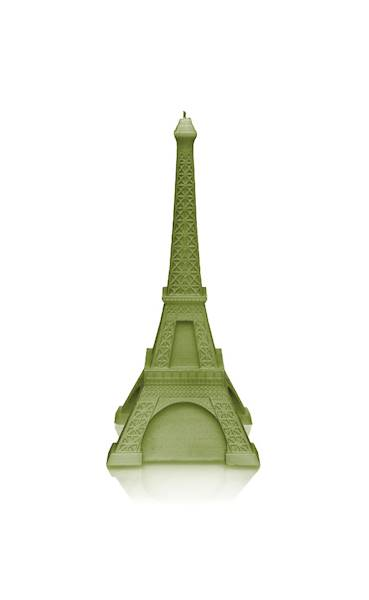 Świeca Candle Eiffel Tower Olive
