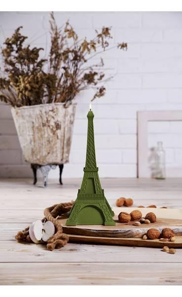 Świeca Candle Eiffel Tower Olive