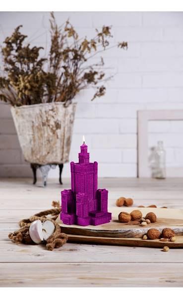 Świeca Candle Palace of Culture Pink Metallic