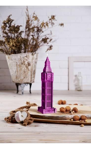 Świeca Candle Big Ben Pink Metallic