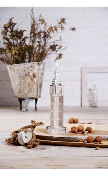 Świeca Candle Big Ben Silver