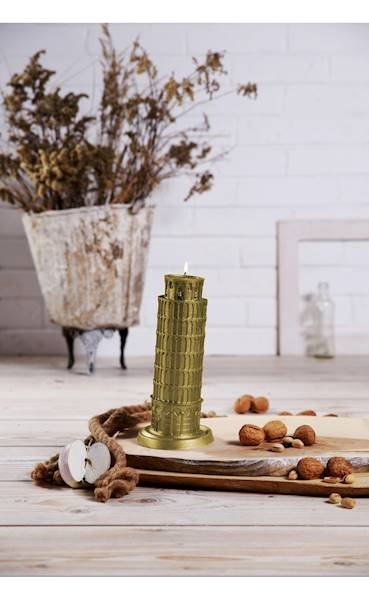 Świeca Candle Piza Tower Classic Gold