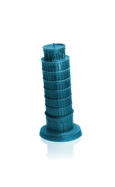 Świeca Candle Piza Tower Blue Metallic