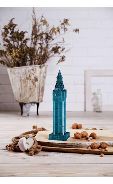 Świeca Candle Big Ben Blue Metallic