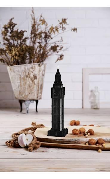 Świeca Candle Big Ben Black Metallic