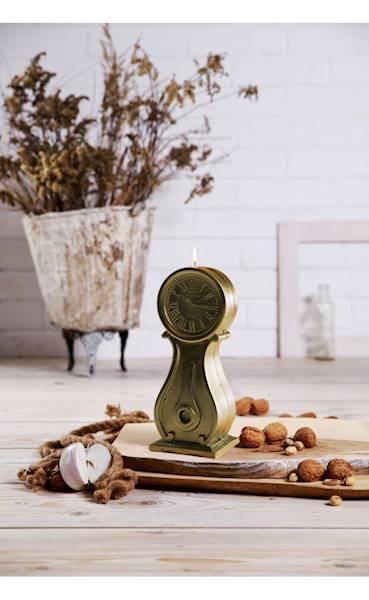 Świeca Candle Clock Classic Gold