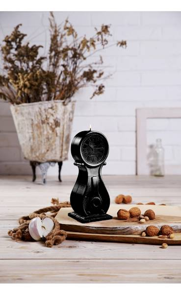 Świeca Candle Clock Black Metallic