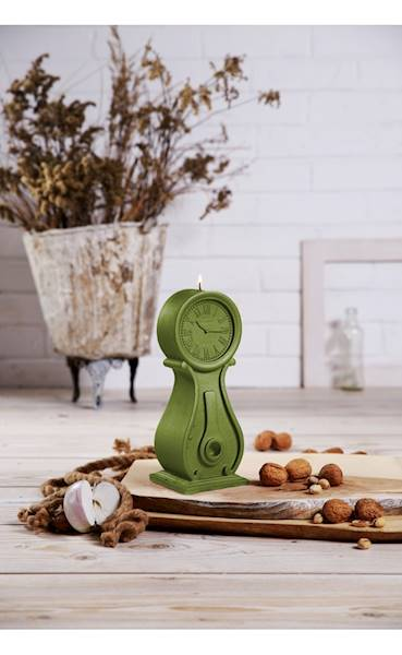 Świeca Candle Clock Olive