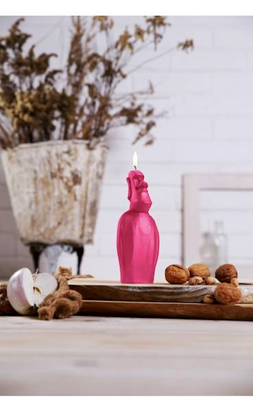 Świeca Candle Statue of Easter Dark Pink