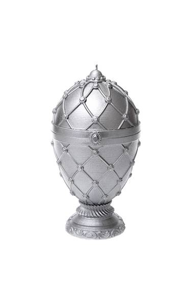 Świeca Candle Faberge Egg Big Silver