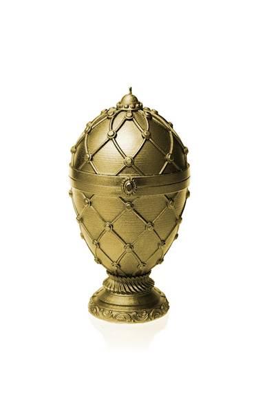 Świeca Candle Faberge Egg Big Classic Gold