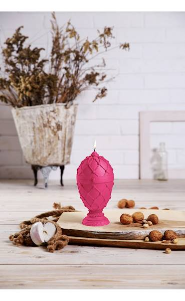 Świeca Candle Faberge Egg Big Dark Pink