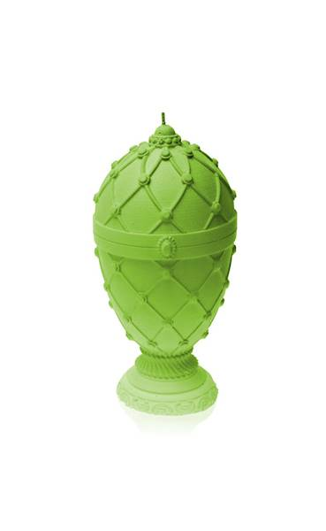 Świeca Candle Faberge Egg Big Lime