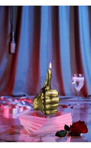 Świeca Candle Hand OK Classic Gold