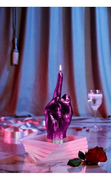 Świeca Candle Hand FCK Pink Metallic