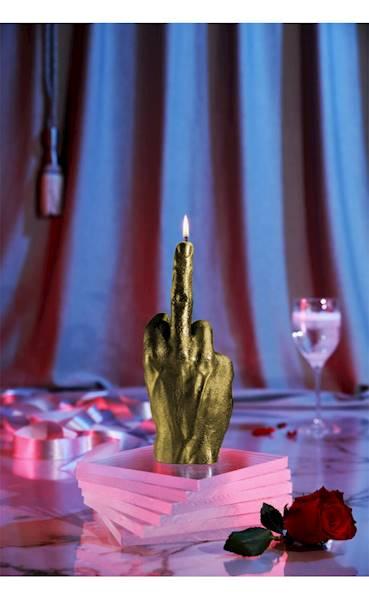 Świeca Candle Hand FCK Classic Gold