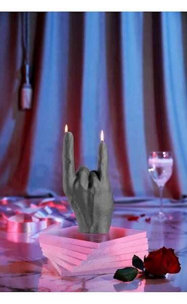 Świeca Candle Hand RCK Grey Matt