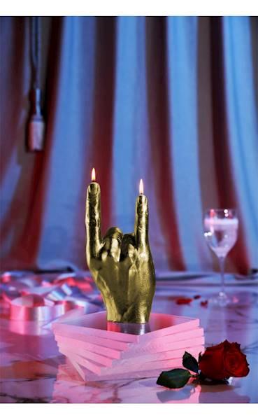 Świeca Candle Hand RCK Classic Gold