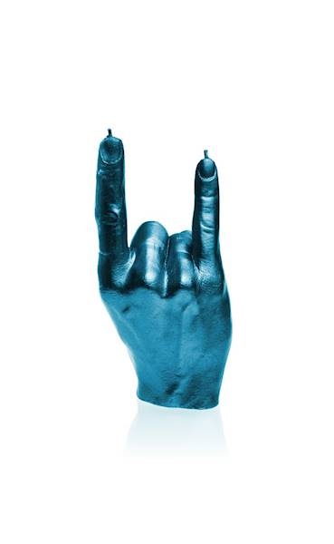 Świeca Candle Hand RCK Blue Metallic