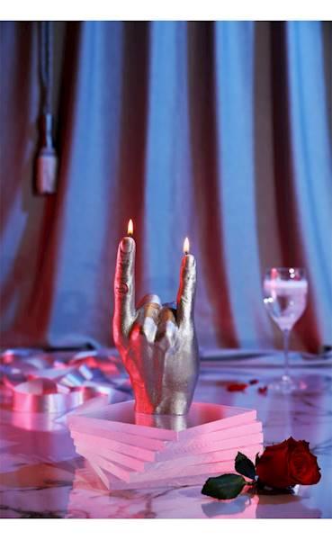 Świeca Candle Hand RCK Silver
