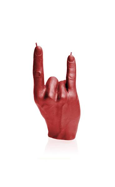 Świeca Candle Hand RCK Red