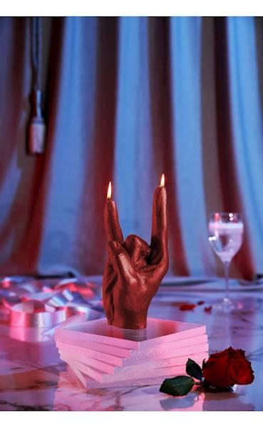 Świeca Candle Hand RCK Red