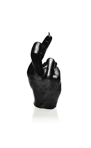 Świeca Candle Hand CRS Black Metallic