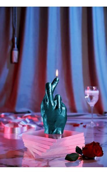 Świeca Candle Hand CRS Blue Metallic