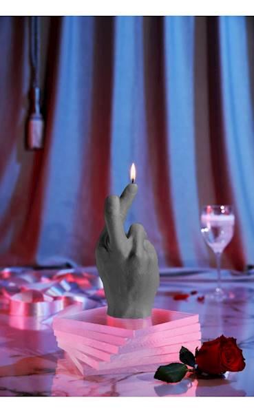 Świeca Candle Hand CRS Grey Matt