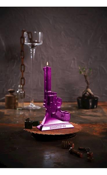 Świeca Candle Magnum Pink Metallic