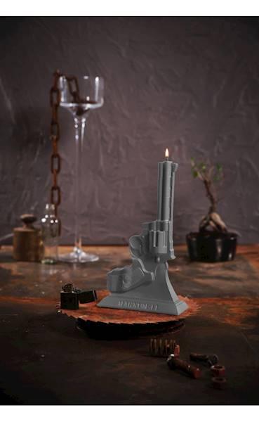 Świeca Candle Magnum Grey Matt