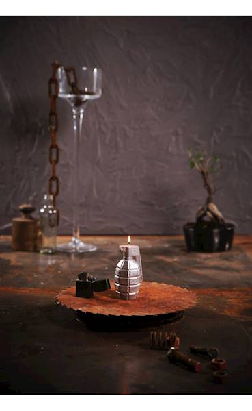 Świeca Candle Grenade Silver