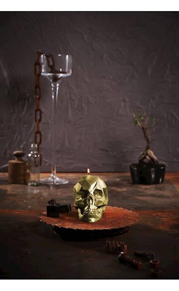 Świeca Candle Skull Classic Gold