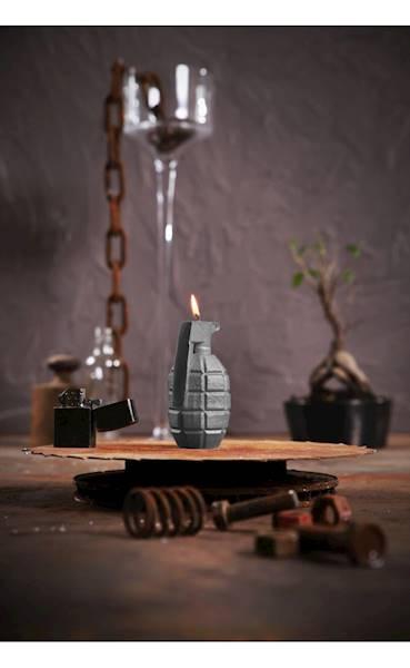 Świeca Candle Grenade Grey Matt