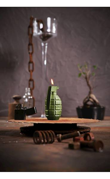 Świeca Candle Grenade Olive