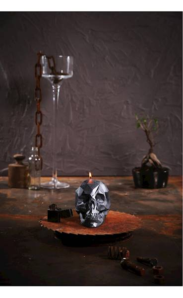 Świeca Candle Skull Steel