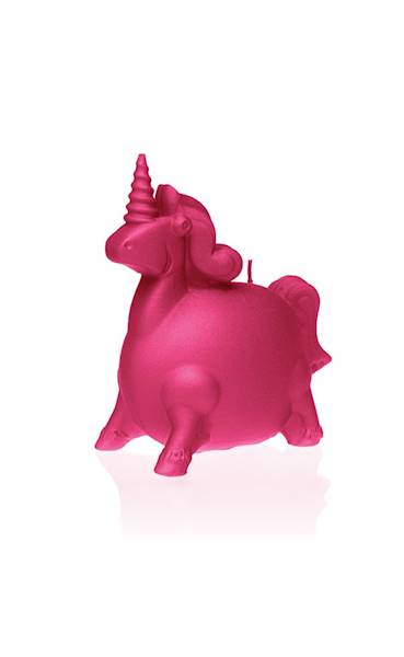 Świeca Candle Funny Unicorn Dark Pink