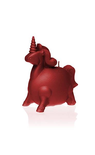 Świeca Candle Funny Unicorn Red