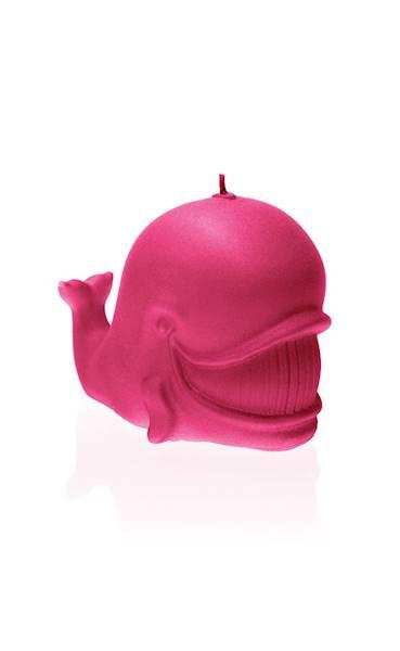 Świeca Candle Funny Whale Dark Pink