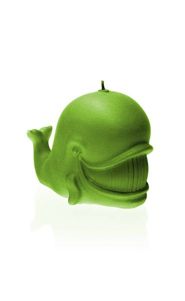 Świeca Candle Funny Whale Lime