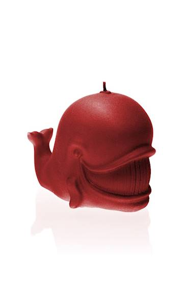 Świeca Candle Funny Whale Red